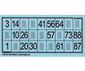 Lottokarten und -blätter
