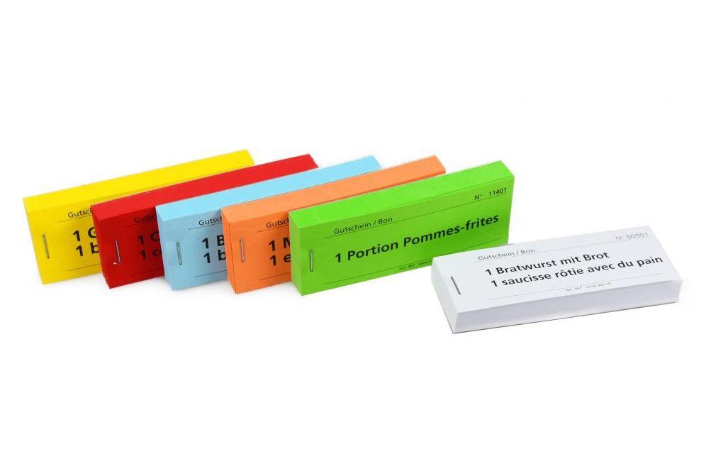 Gutscheinblöckli mit 70 verschiedenen  Standardtexten