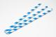Trinkhalme aus Papier blau-weiss (200 Stück)