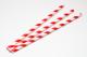 Trinkhalme aus Papier rot-weiss (200 Stück)